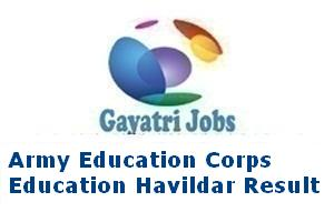 Army Education Corps Education Havildar Result
