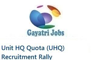 Unit HQ Quota (UHQ) Recruitment Rally