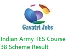 Indian Army TES Course-38 Scheme Result