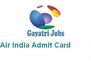 Air India Admit Card