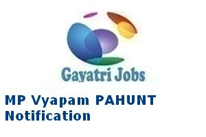 MP Vyapam PAHUNT Notification