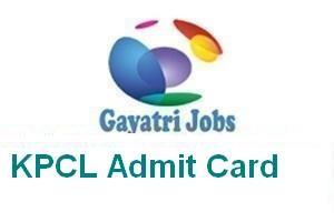 KPCL Admit Card