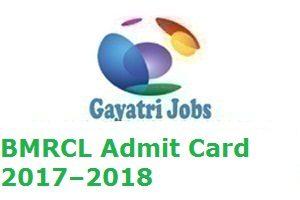 BMRCL Admit Card