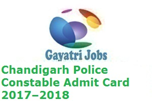 Chandigarh Police Constable Admit Card
