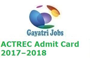 ACTREC Admit Card