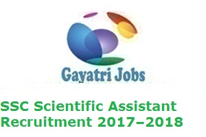 SSC Scientific Assistant Recruitment