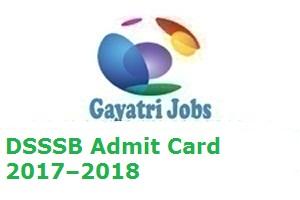 DSSSB Admit Card