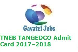 TNEB TANGEDCO Admit Card