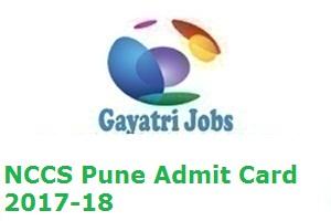 NCCS Pune Admit Card