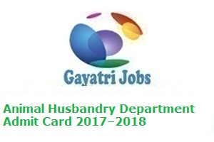 Animal Husbandry Department Admit Card