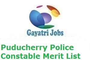 Puducherry Police Constable Merit List