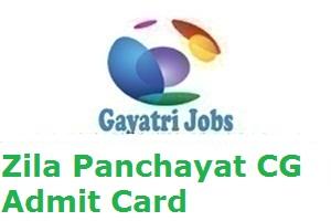 Zila Panchayat CG Admit Card