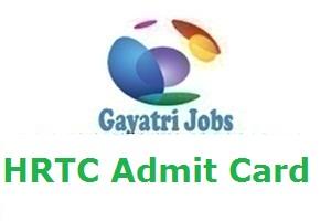 HRTC Admit Card
