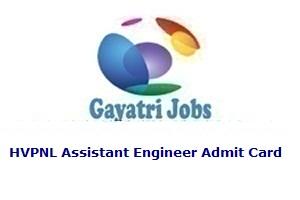 HVPNL Assistant Engineer Admit Card