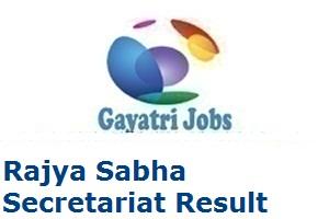 Rajya Sabha Secretariat Result