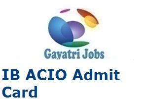 IB ACIO Admit Card