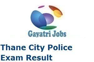 Thane City Police Exam Result