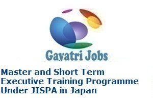 Master and Short Term Executive Training Programme Under JISPA