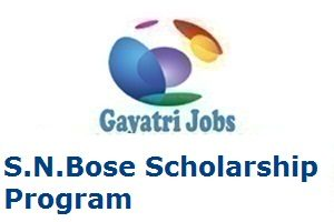 S.N.Bose Scholarship Program