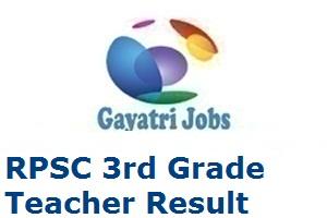 RPSC 3rd Grade Teacher Result