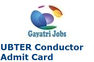 UBTER Conductor Admit Card