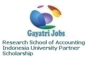 Research School of Accounting Indonesia University Partner Scholarship