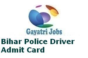 Bihar Police Driver Admit Card