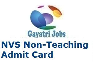 NVS Non-Teaching Admit Card