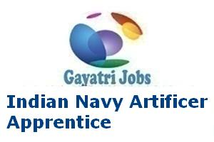Indian Navy Artificer Apprentice Recruitment