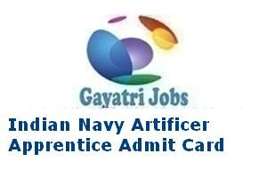 Indian Navy Artificer Apprentice Admit Card