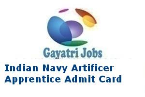 Indian Navy Artificer Apprentice Admit Card