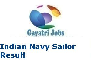 Indian Navy Sailor Result