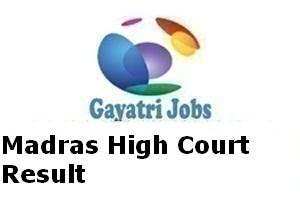 Madras High Court Result