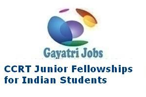 CCRT Junior Fellowships for Indian Students