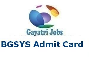 BGSYS Admit Card