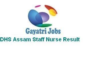 DHS Assam Staff Nurse Result