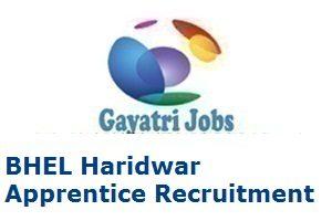 BHEL Haridwar Apprentice Recruitment