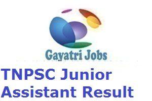 TNPSC Junior Assistant Result