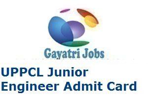 UPPCL Junior Engineer Electrical Admit Card