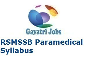 RSMSSB Paramedical Syllabus