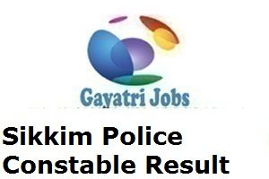 Sikkim Police Constable Result