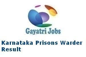 Karnataka Prisons Warder Result