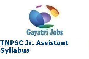 TNPSC Jr. Assistant Syllabus