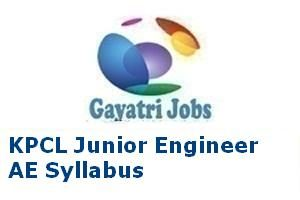 KPCL Junior Engineer AE Syllabus