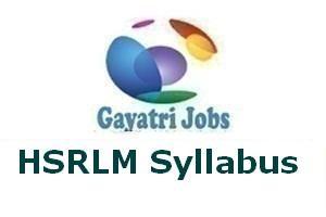 HSRLM Syllabus