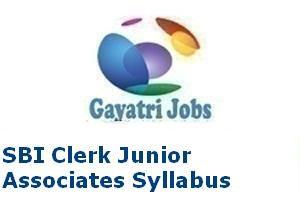 SBI Clerk Junior Associates Syllabus
