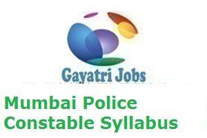 Mumbai Police Constable Syllabus
