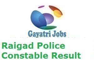 Raigad Police Constable Result