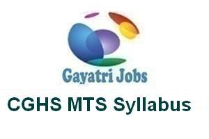 CGHS MTS Syllabus