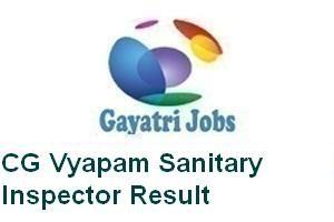 CG Vyapam Sanitary Inspector Result